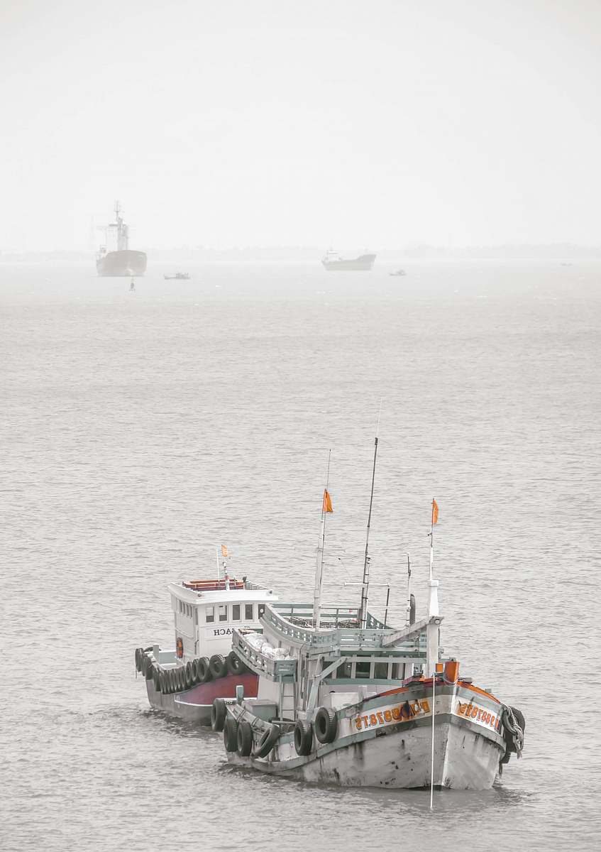 stock photos free  of vehicle white and green ship on sea during daytime vessel