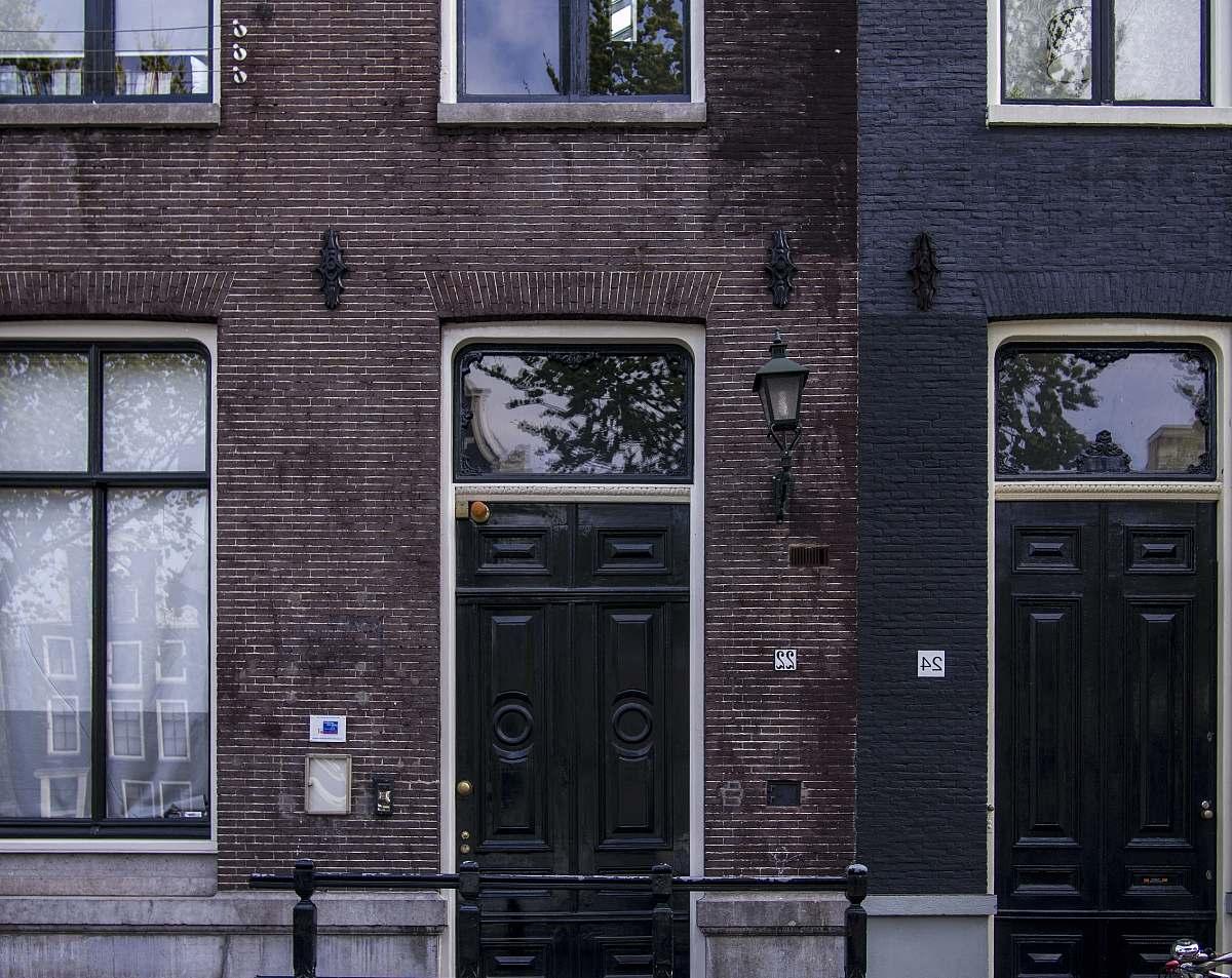 stock photos free  of netherlands closed door building brick