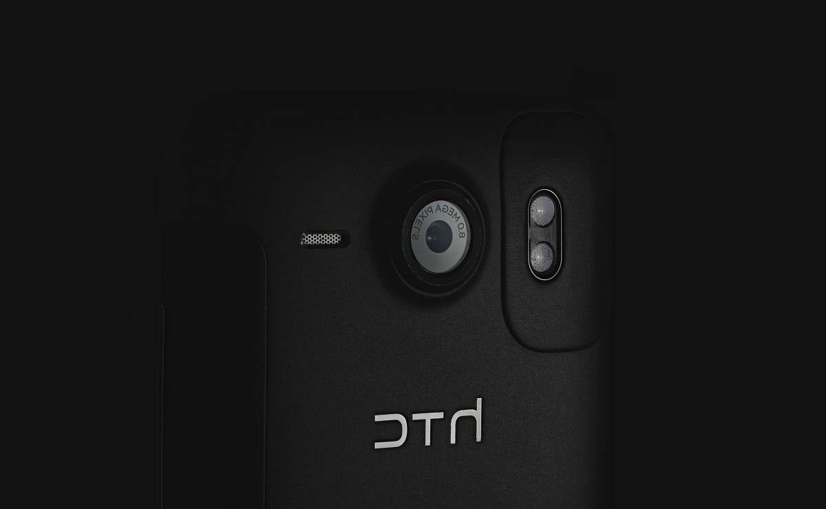 stock photos free  of grey black HTC mobile phone htc