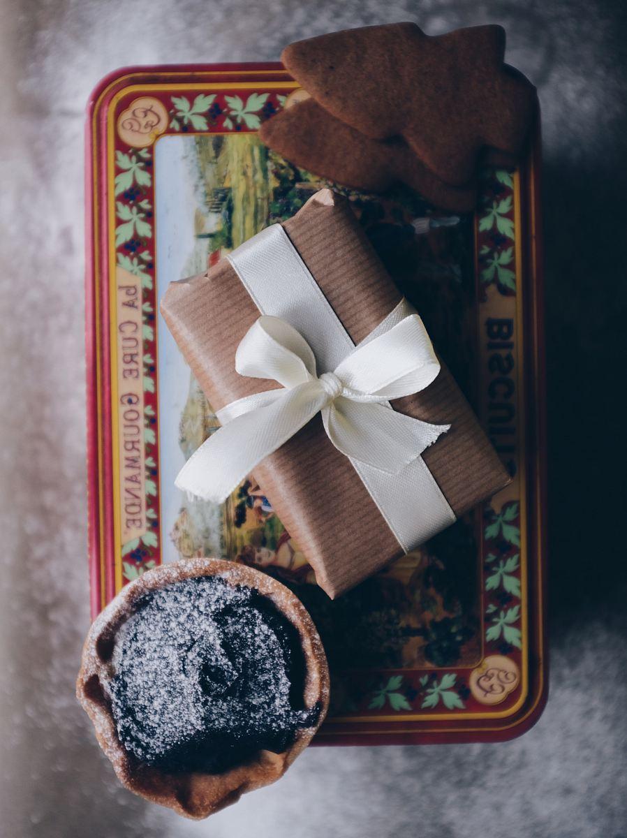 stock photos free  of gift box with white ribbon