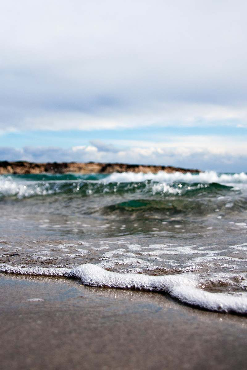 stock photos free  of ocean waves under white cloudy sky at daytime sea