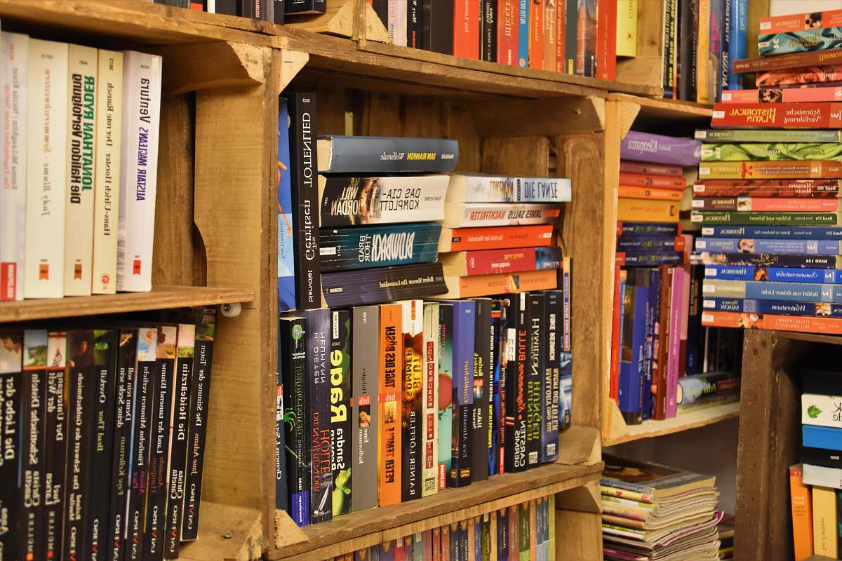 stock photos free  of shelf pile of books on bookshelf furniture