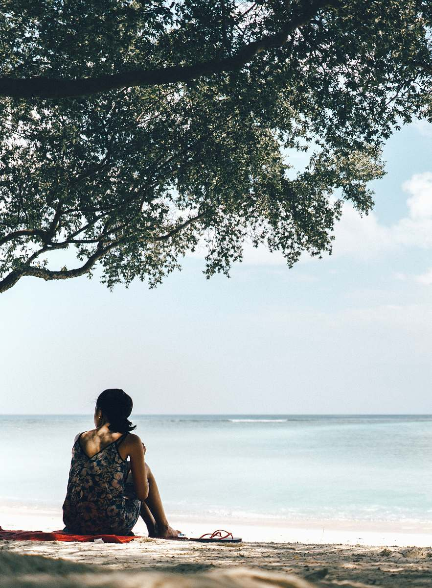 stock photos free  of person woman beside tree human