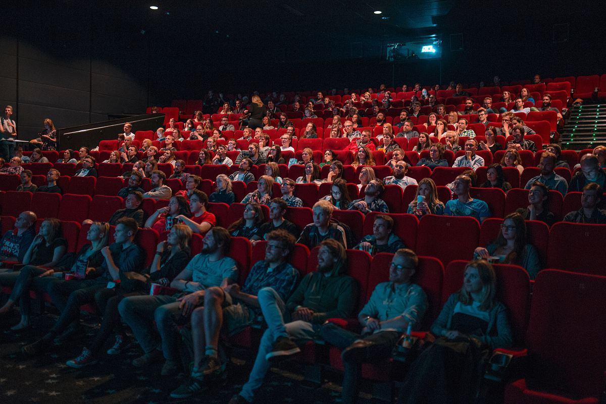 stock photos free  of person watching movie