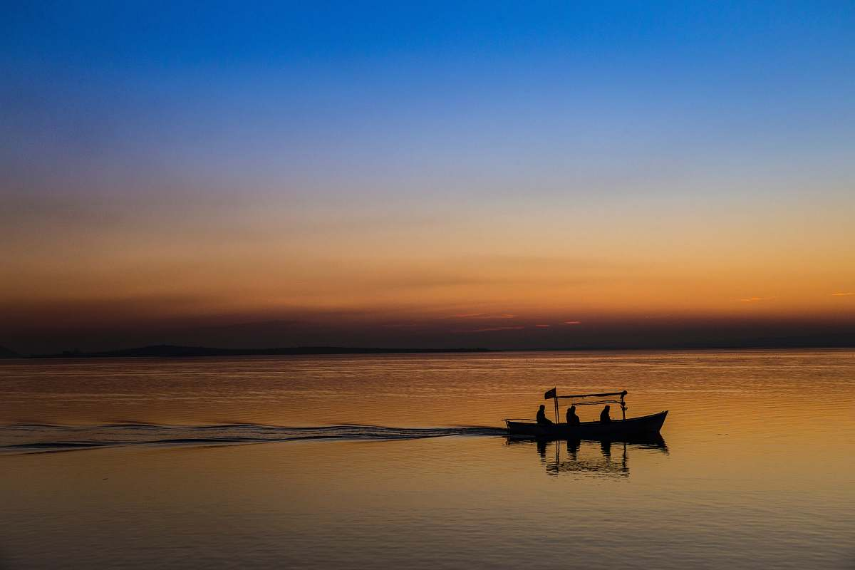 stock photos free  of transportation silhouette of boat rowboat