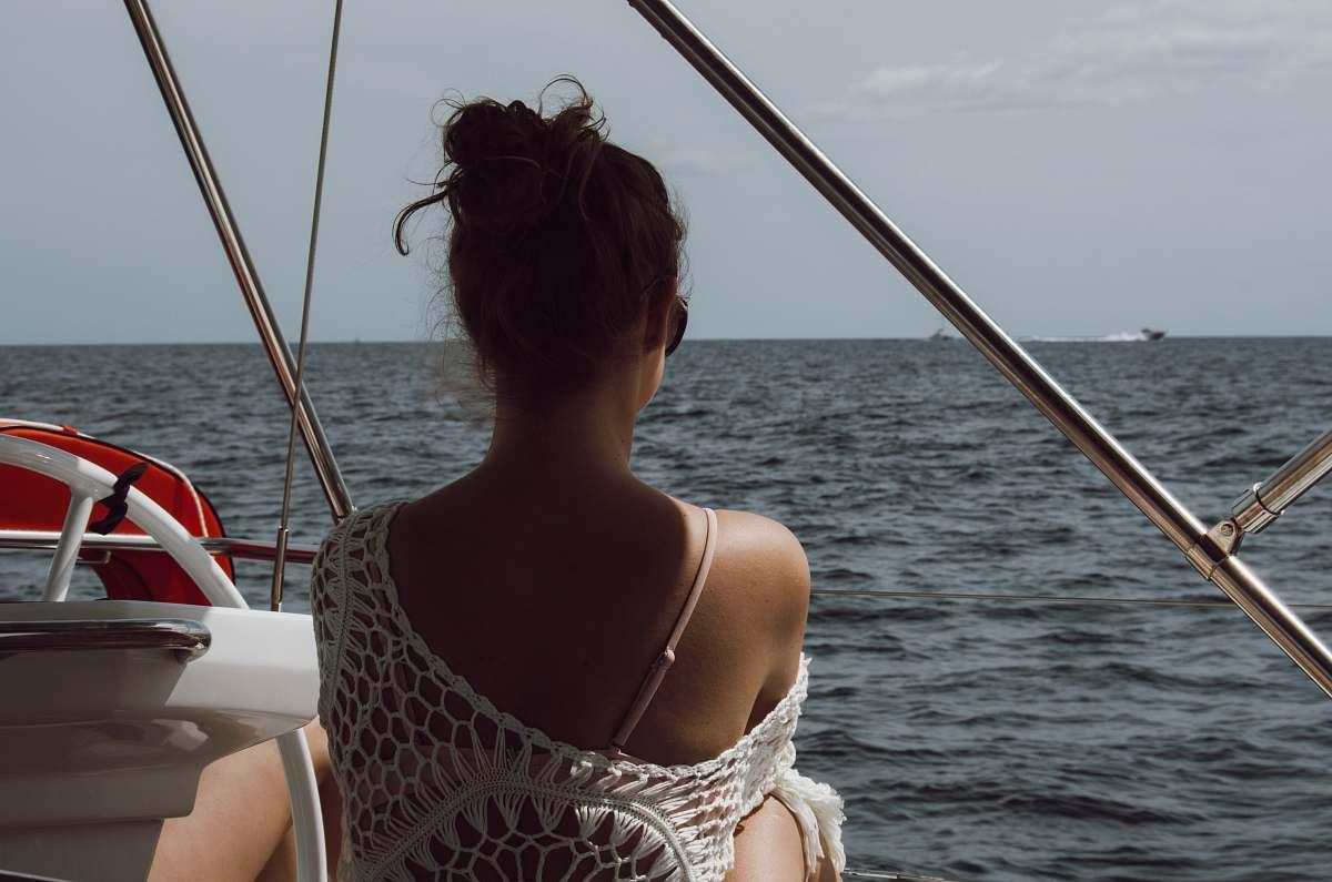 stock photos free  of transportation women's white dress boat