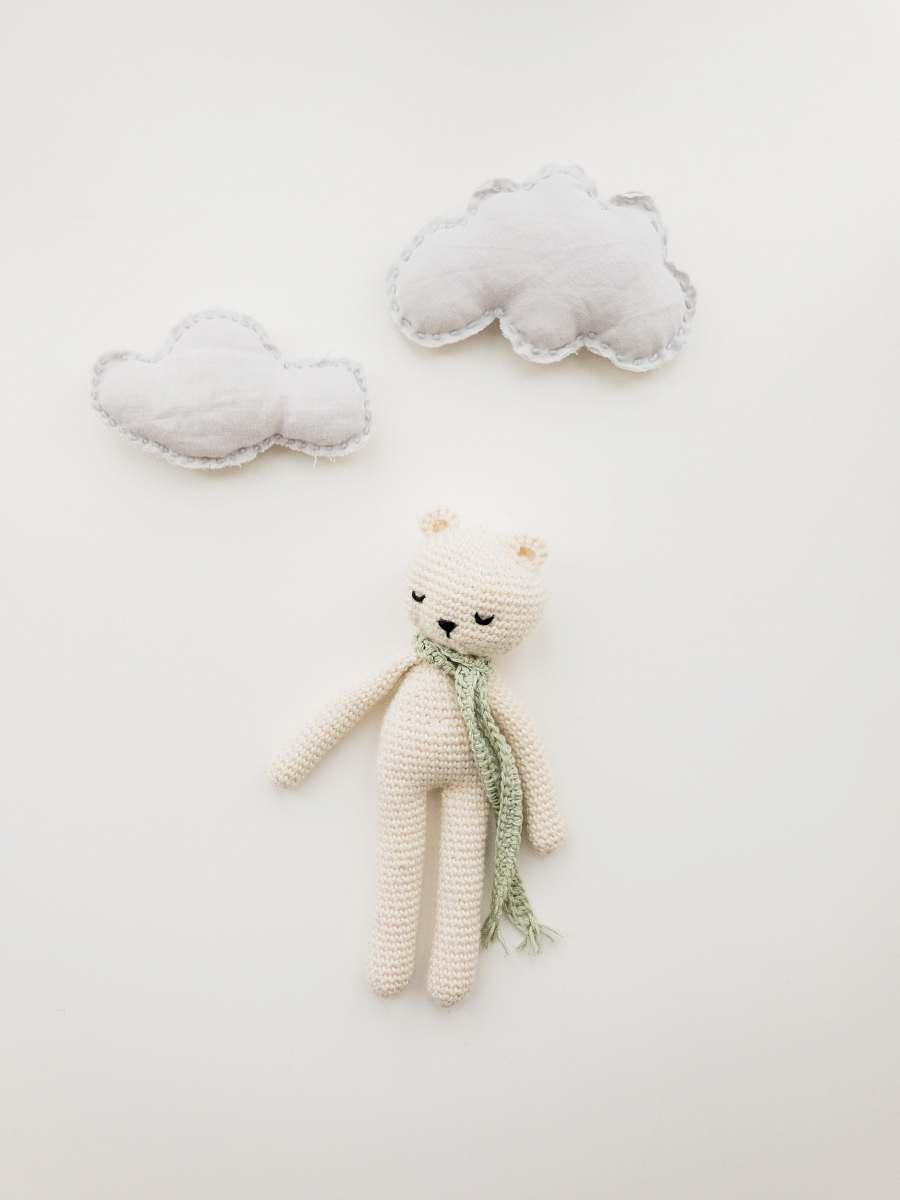 stock photos free  of copenhagen white bear amirugumi knitted doll denmark