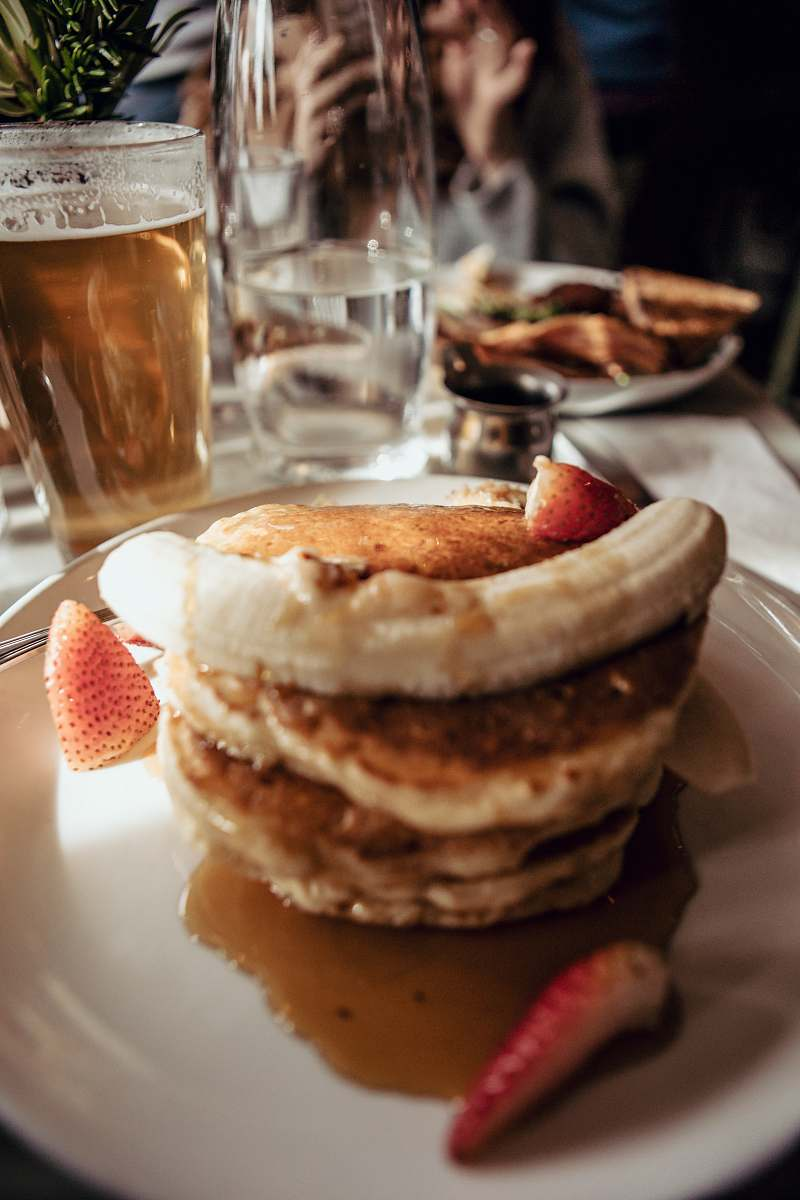 stock photos free  of bread pancake with slices of fruits burger