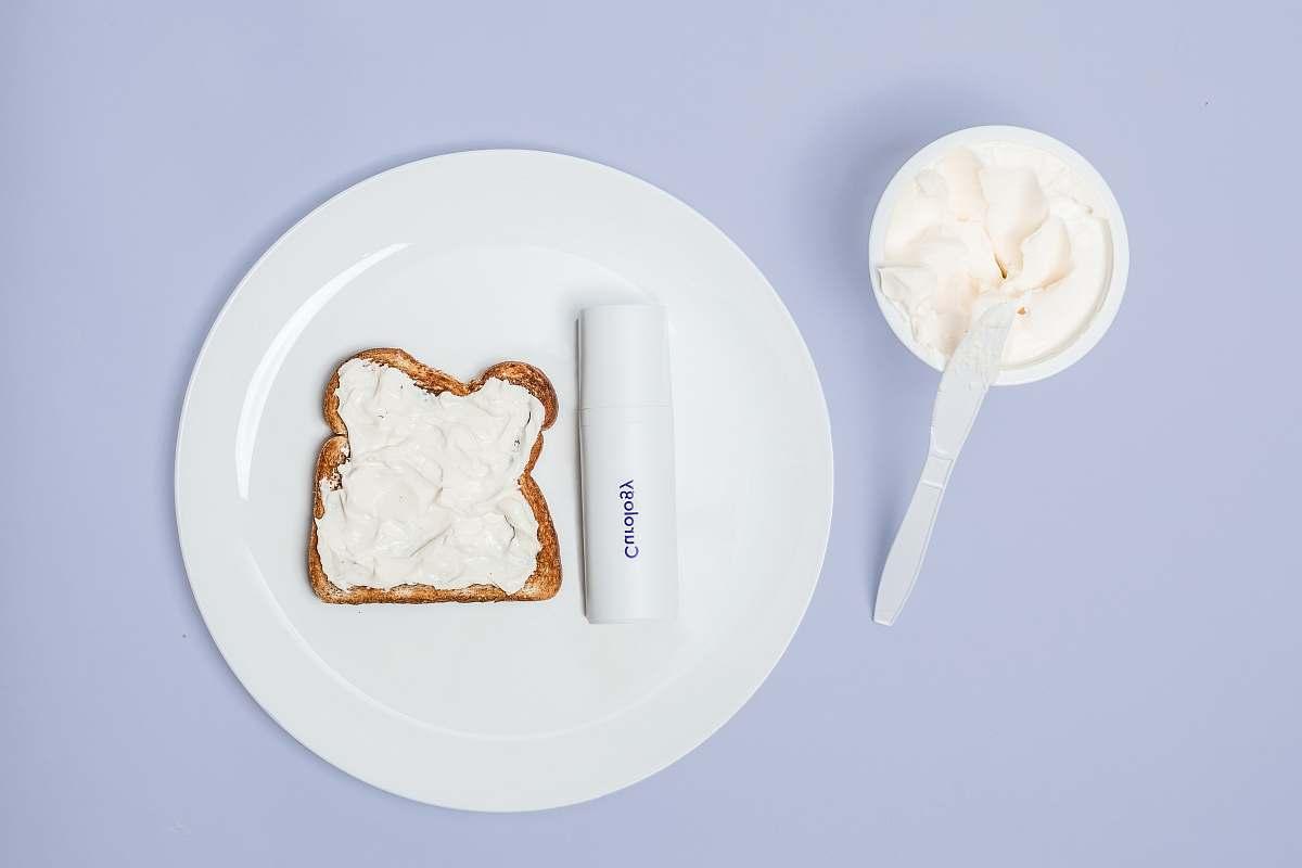 stock photos free  of cream white plate creme
