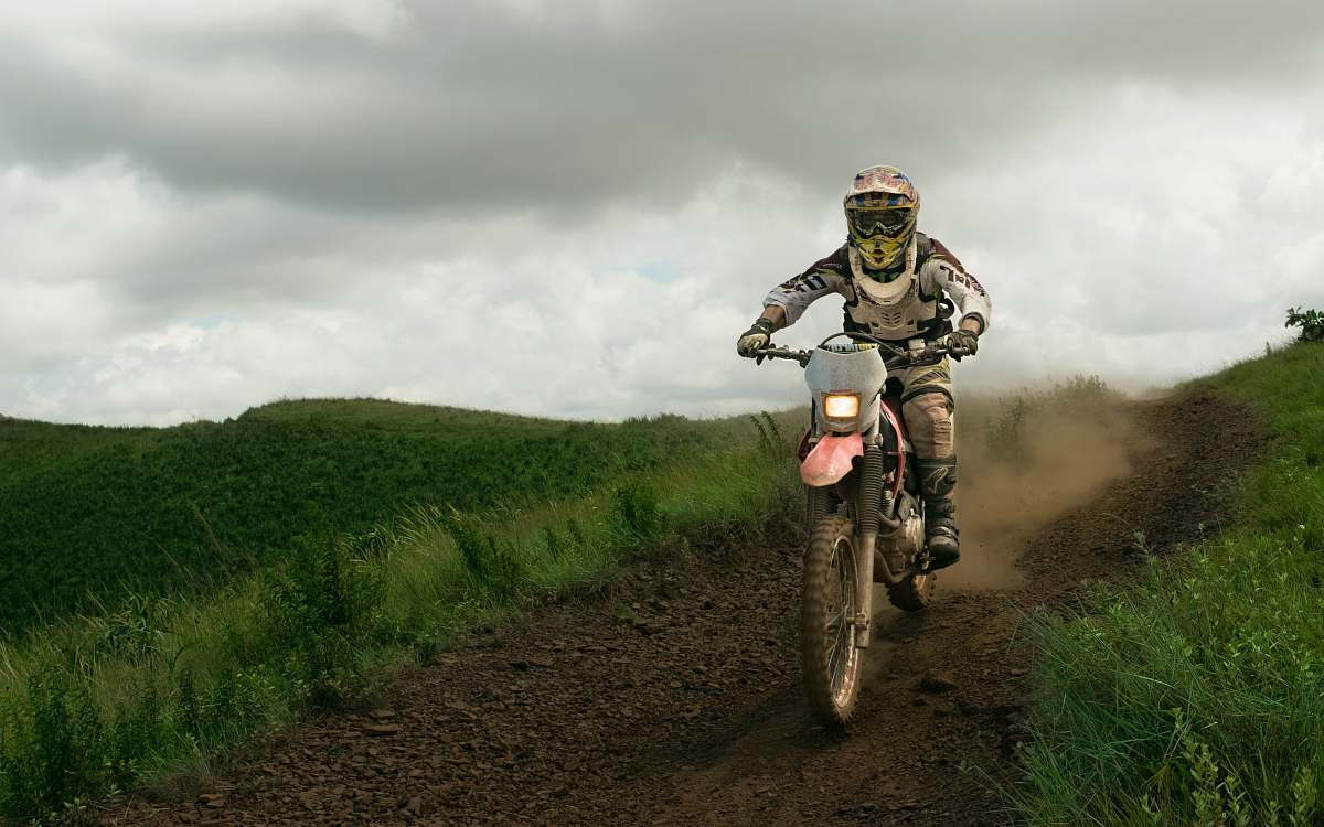 stock photos free  of sport rule of thirds photography of white dirt bike motocross