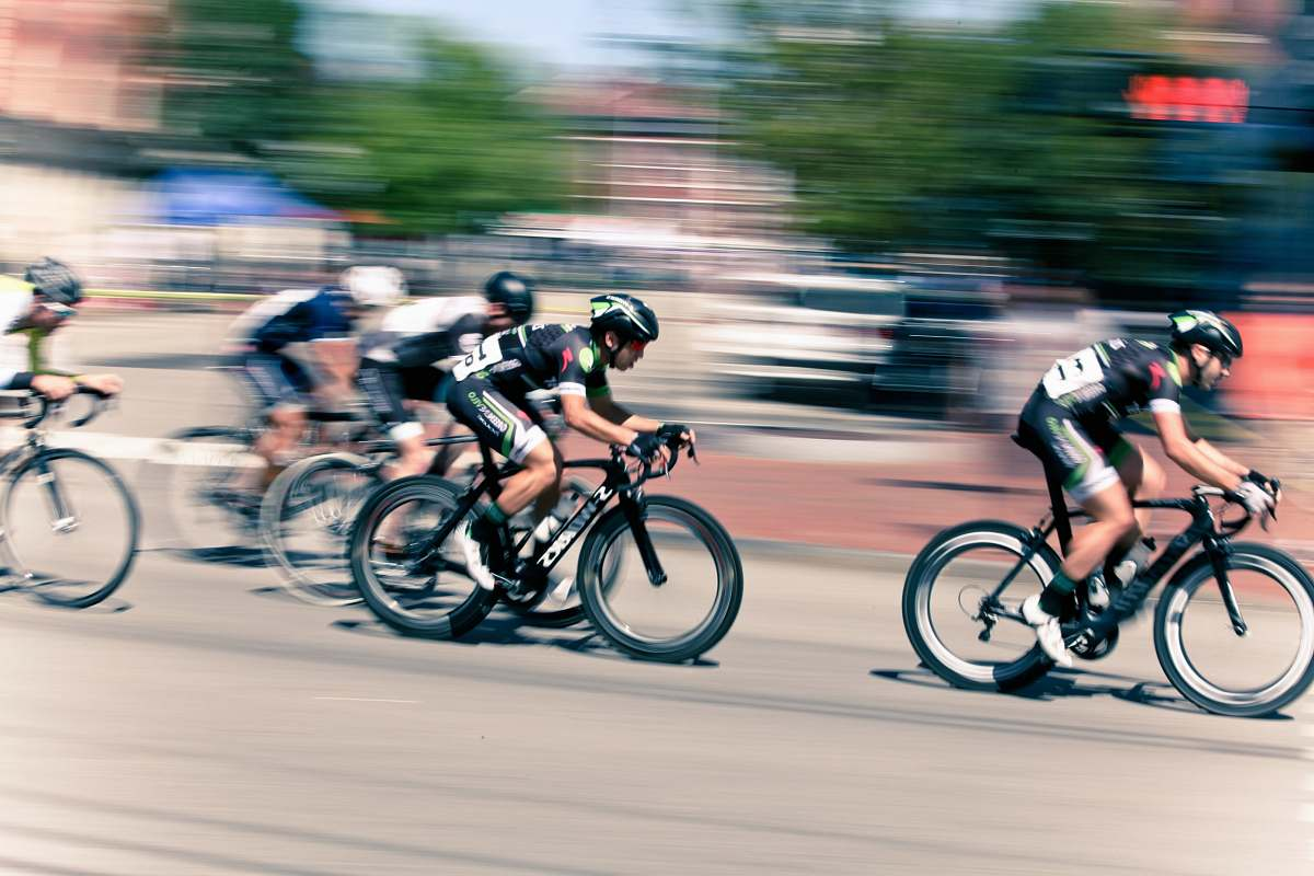 stock photos free  of bicycle time lapse photography of bikers cyclist
