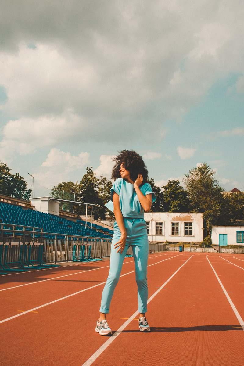 stock photos free  of person woman standing near outdoor during daytime running track