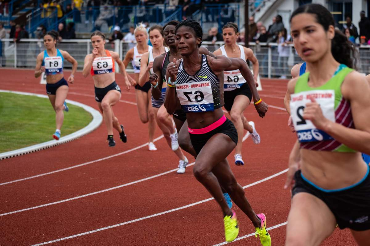 sport woman running competition running track Image - Free Stock Photo