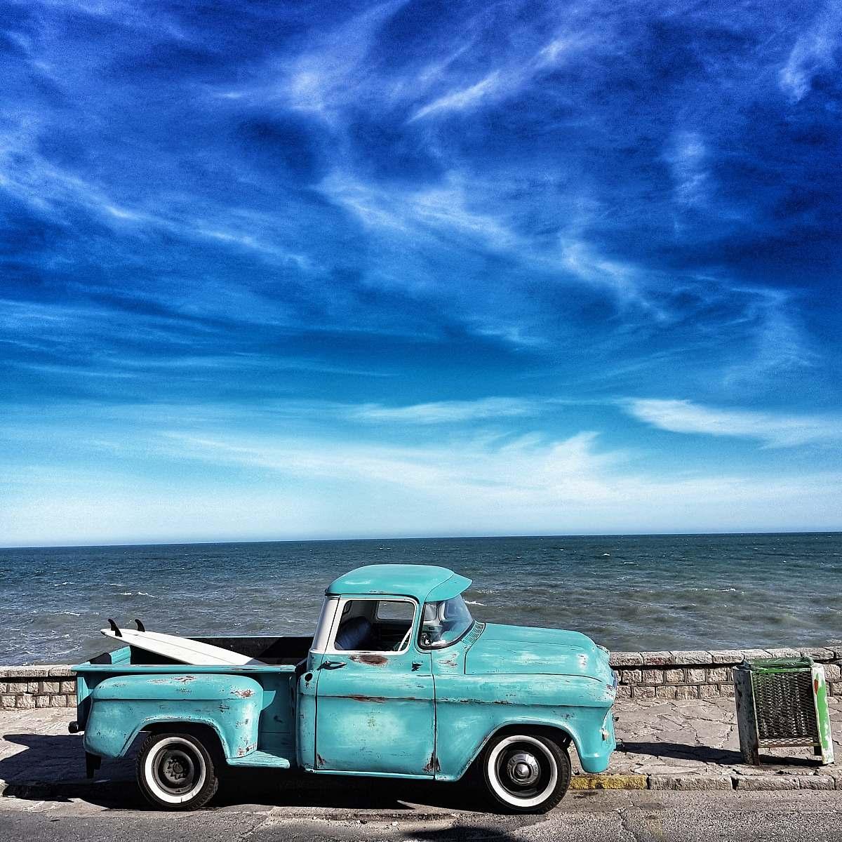 stock photos free  of truck blue single cab pickup truck mar del plata