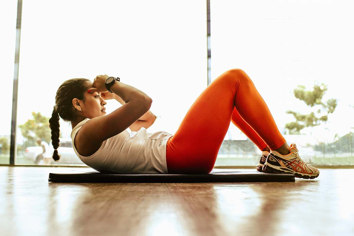 stock photos free  of exercise woman exercising indoors working out