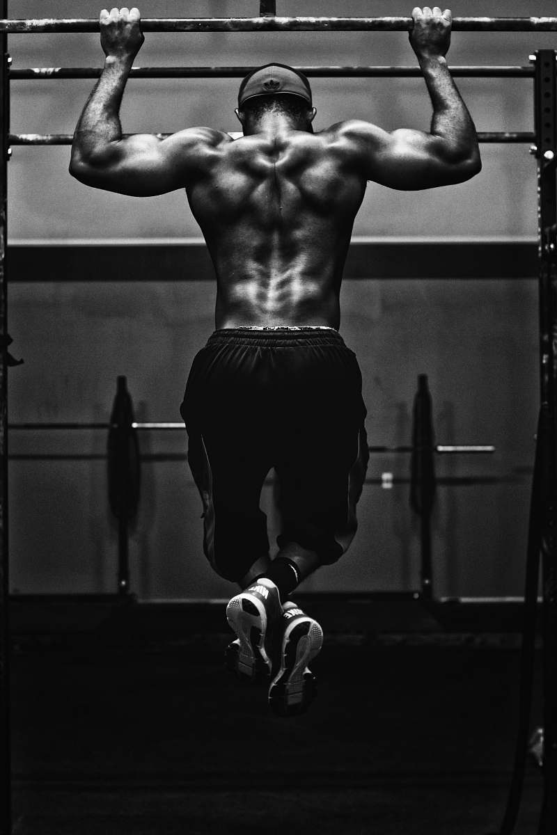 stock photos free  of fitness grayscale photo of man working out black-and-white