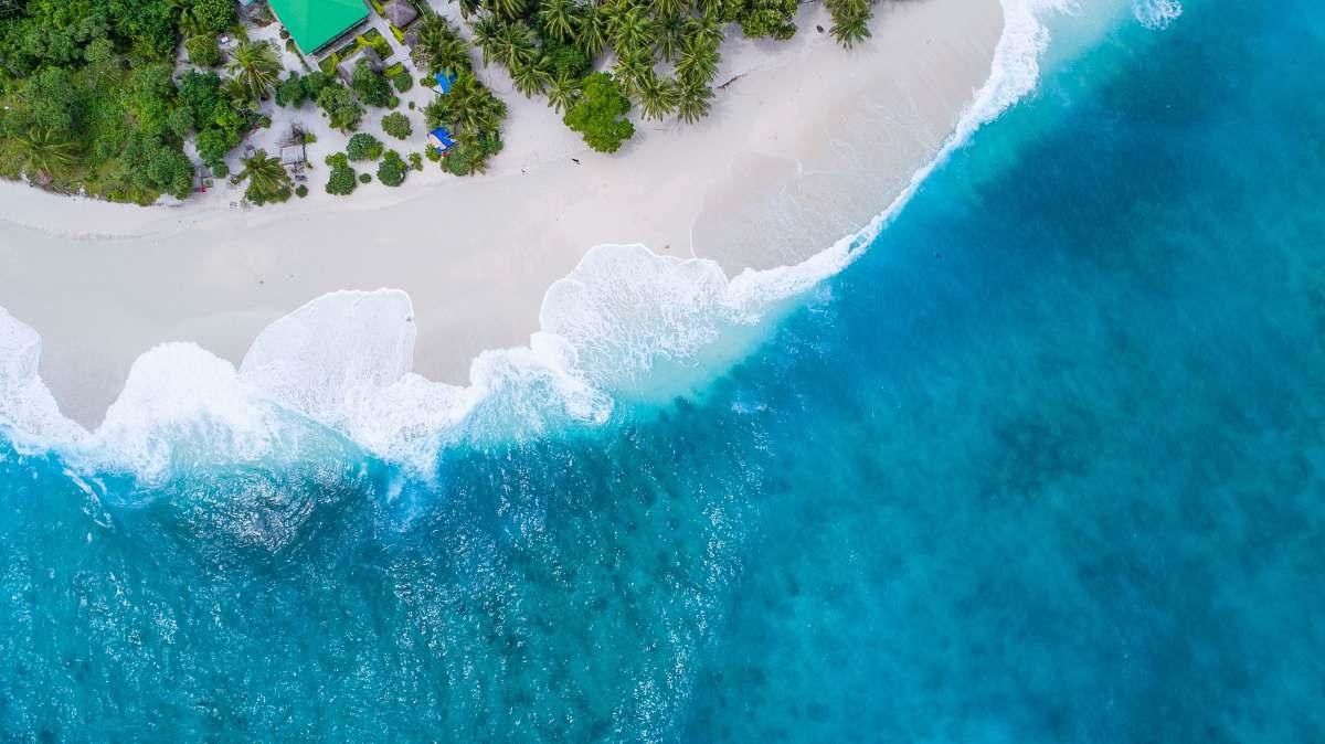 stock photos free  of maldives bird's eye-view photography beach mountain