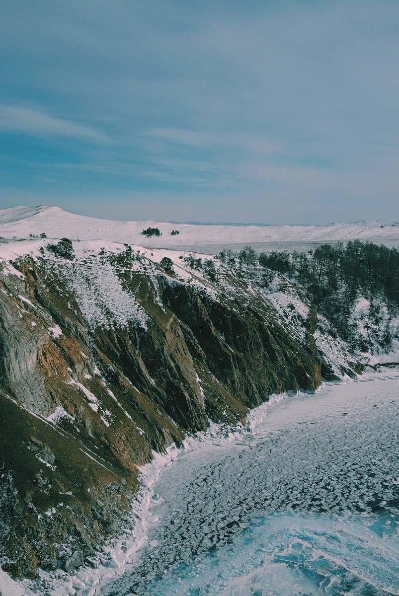 stock photos free  of nature snow-covered mountain near ocean mountain