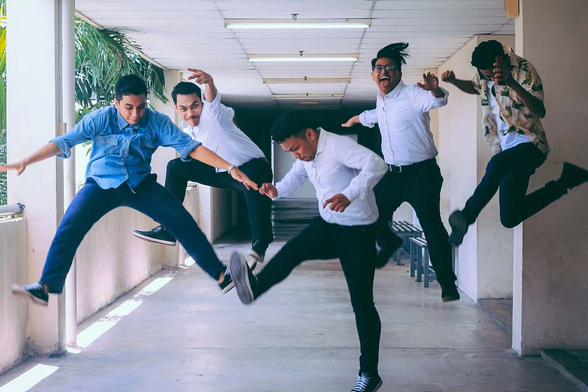 stock photos free  of human group of people doing jump shot photography person