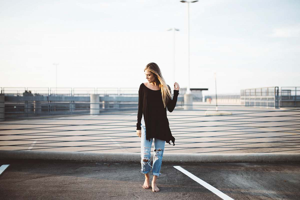 stock photos free  of person woman standing on gray concrete pavement human
