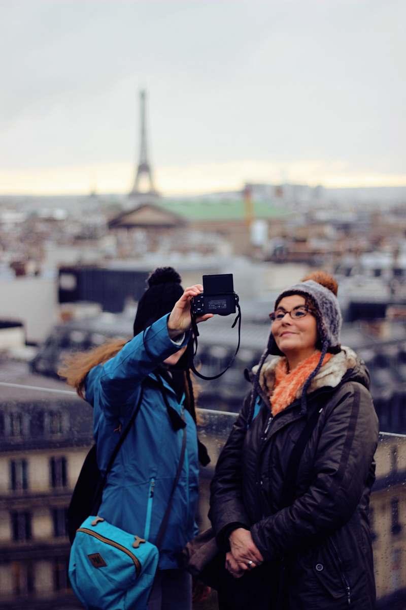 stock photos free  of clothing two women taking selfie coat