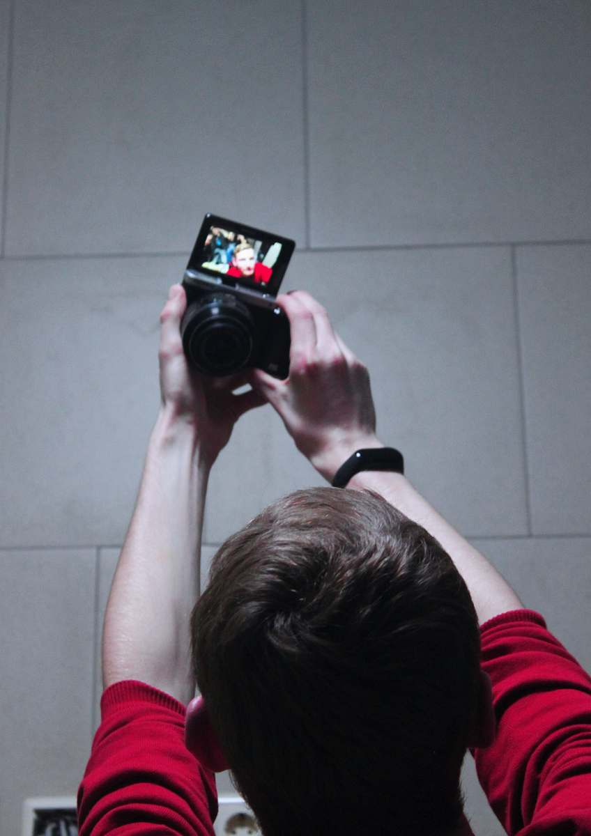 stock photos free  of person close-up photography of man taking selfie camera