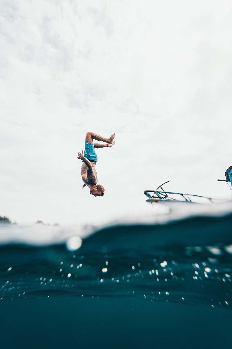 stock photos free  of indonesia time lapse photography of man jumping adventure
