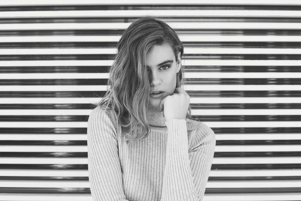stock photos free  of people grayscaled photo of woman portrait