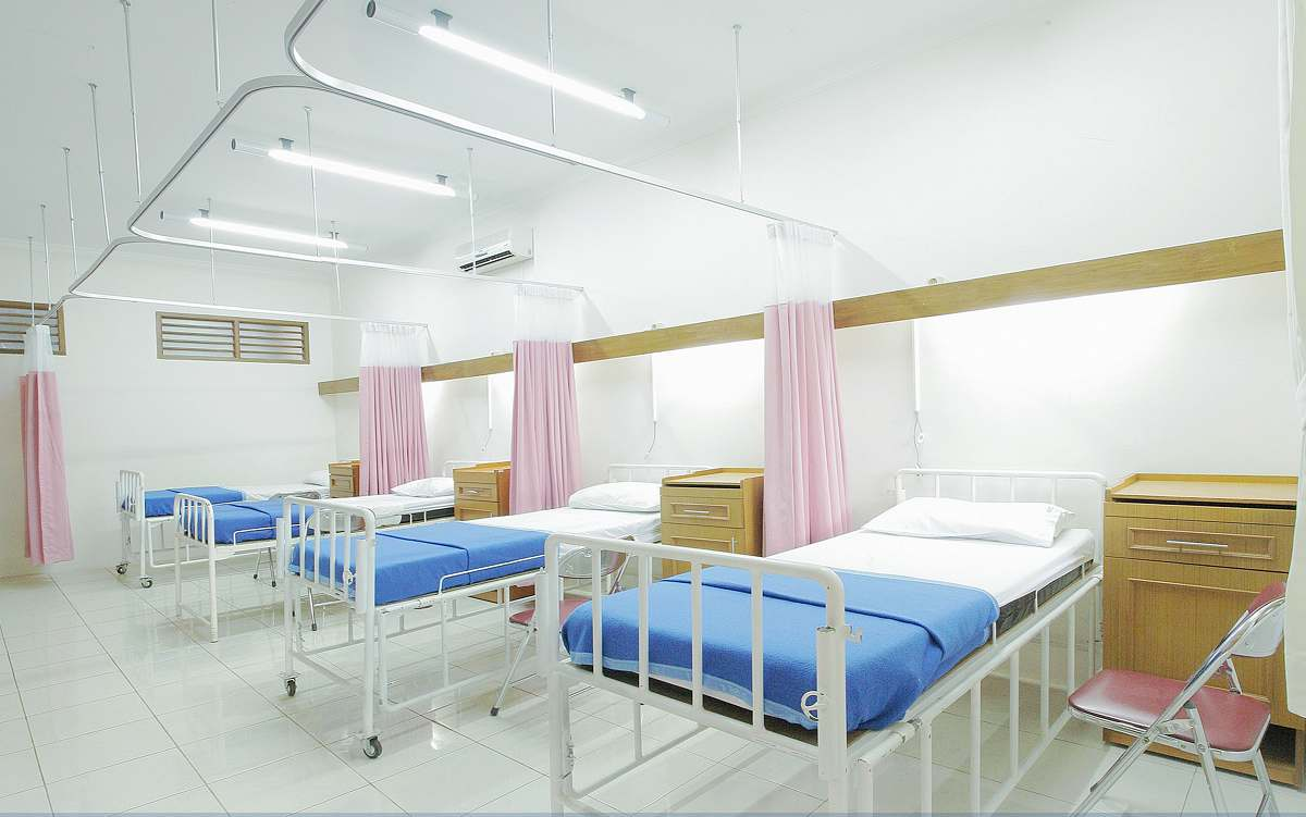 stock photos free  of furniture empty hospital bed inside room healthcare