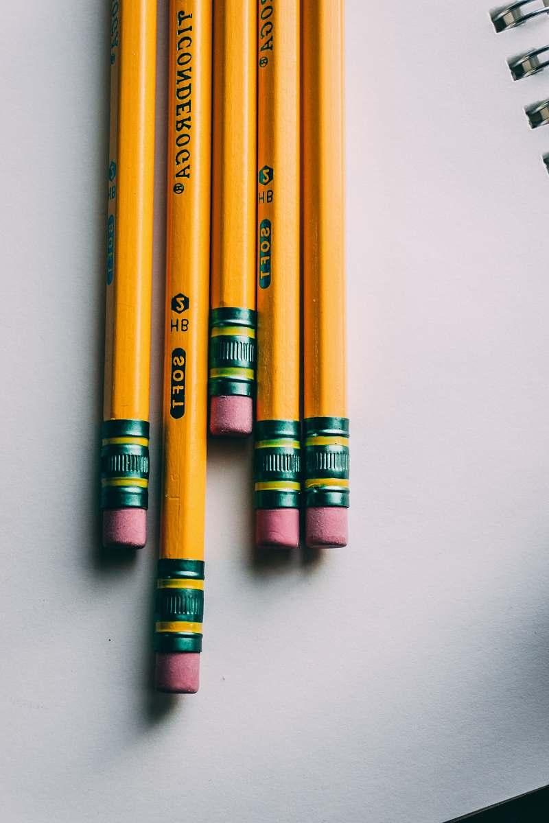 stock photos free  of school five brown pencils pencil