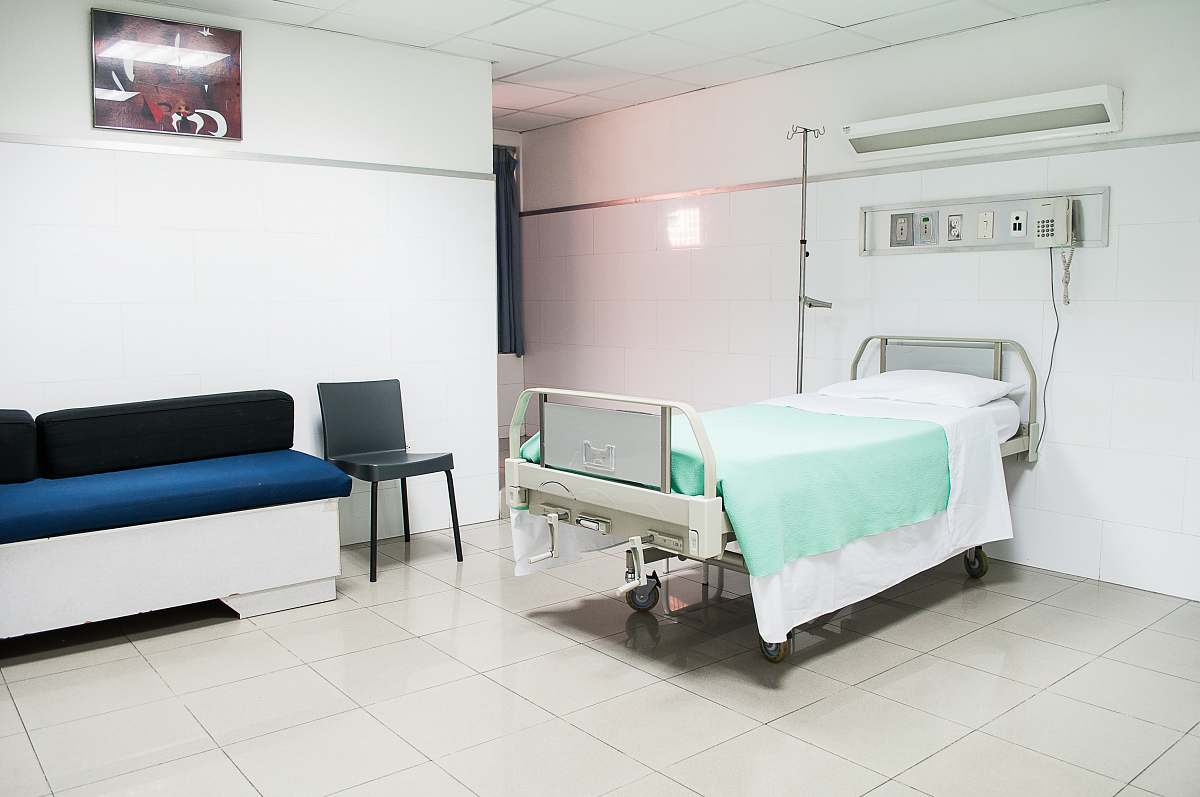 stock photos free  of hospital hospital bed near couch clinic
