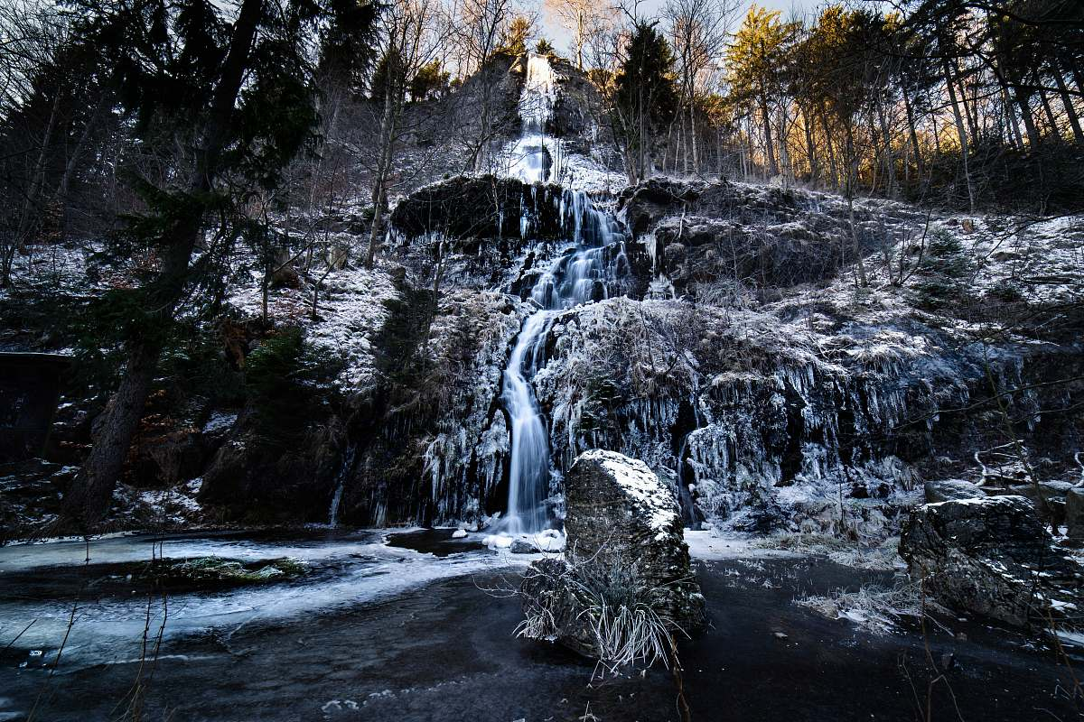 stock photos free  of outdoors waterfalls cascading down rock wall river
