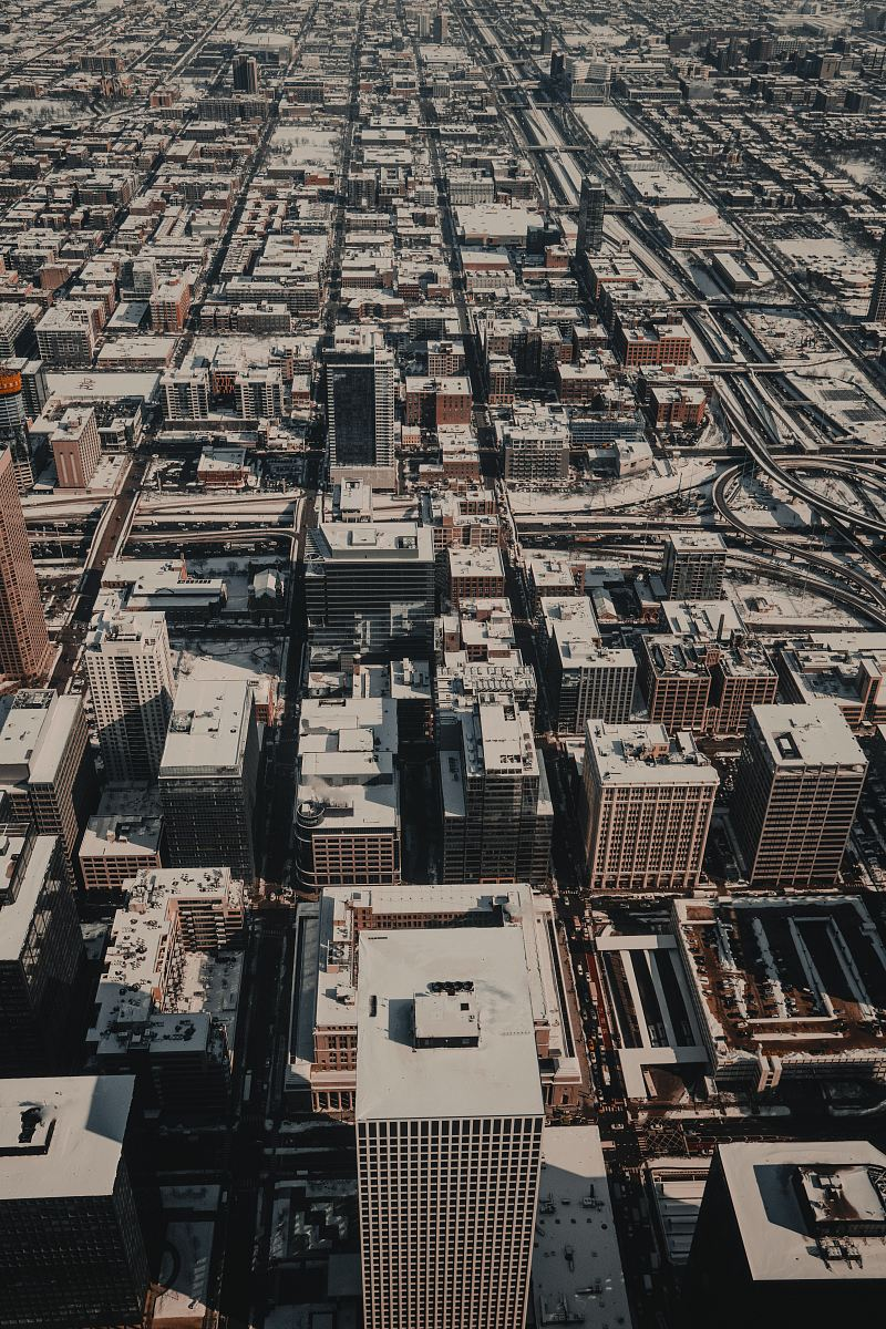 stock photos free  of aerial photograph of city structures