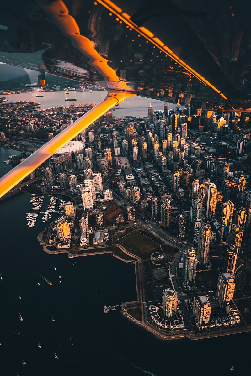 stock photos free  of aerial photography of high rise building