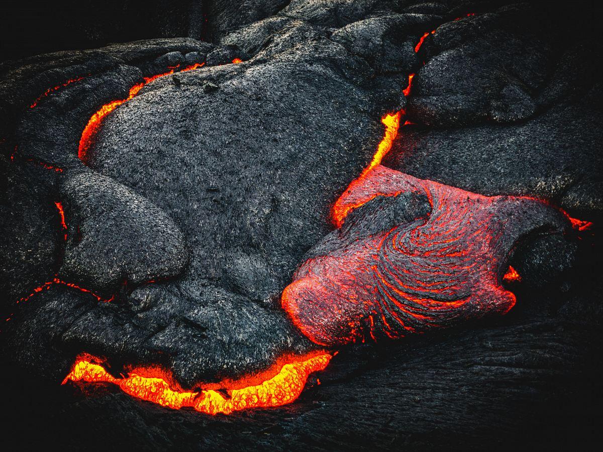stock photos free  of black and orange lava
