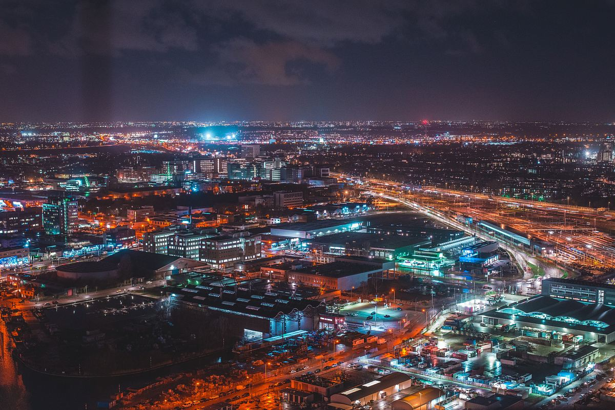 stock photos free  of cityscape at night time