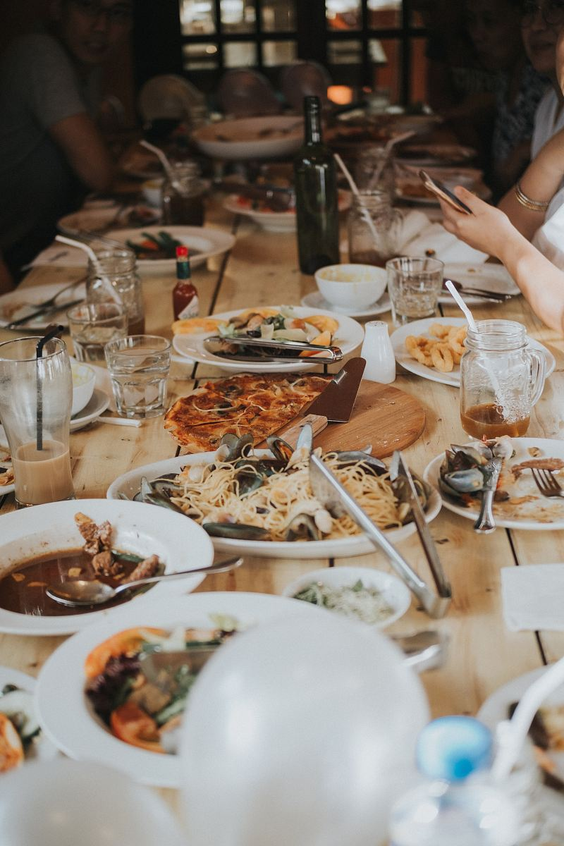 stock photos free  of food serve on table