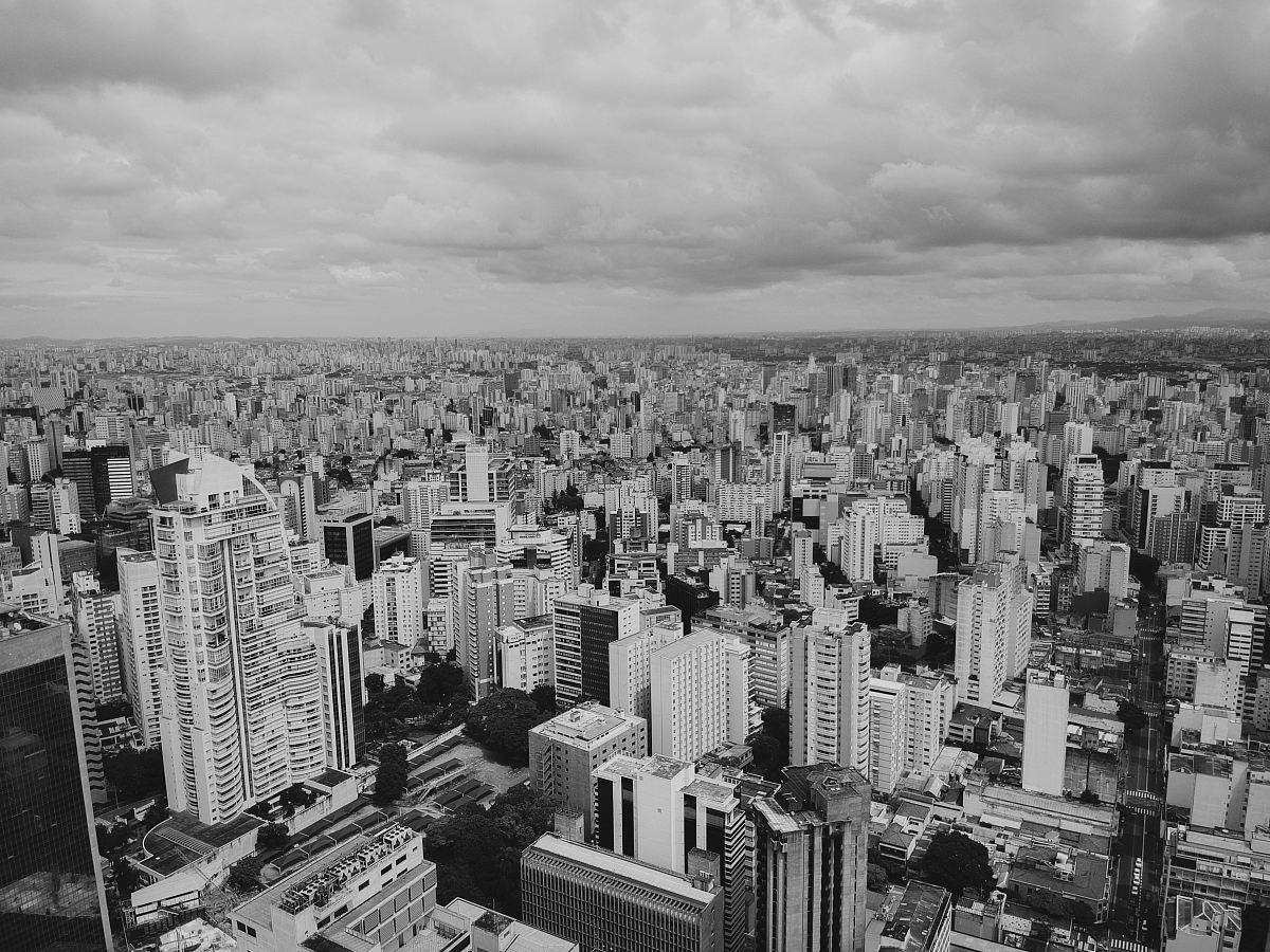 stock photos free  of grayscale photography of cityscape