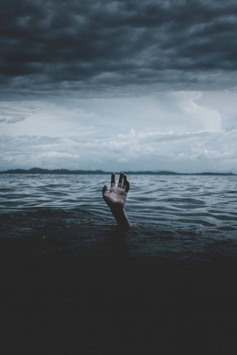 stock photos free  of grayscale photography of hands under body of water