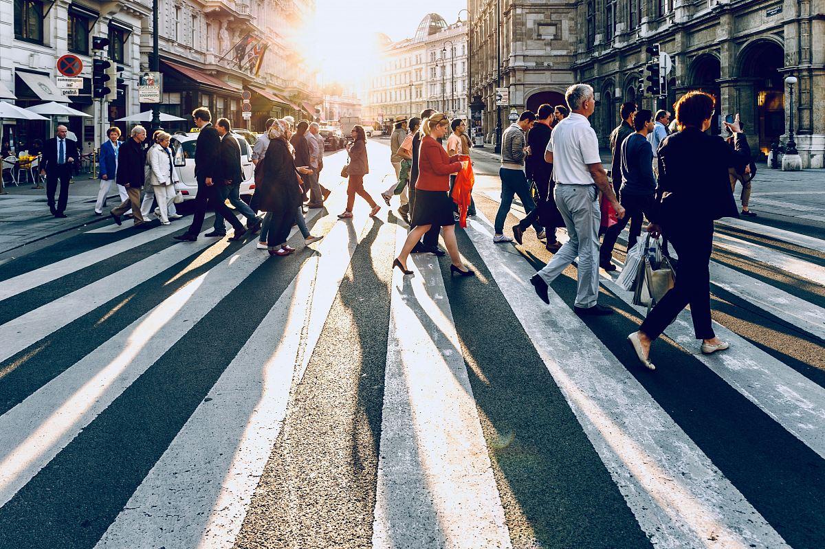 stock photos free  of group of people walking on pedestrian lane