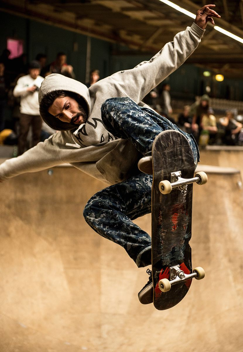 stock photos free  of man riding skateboard and doing ollie trick