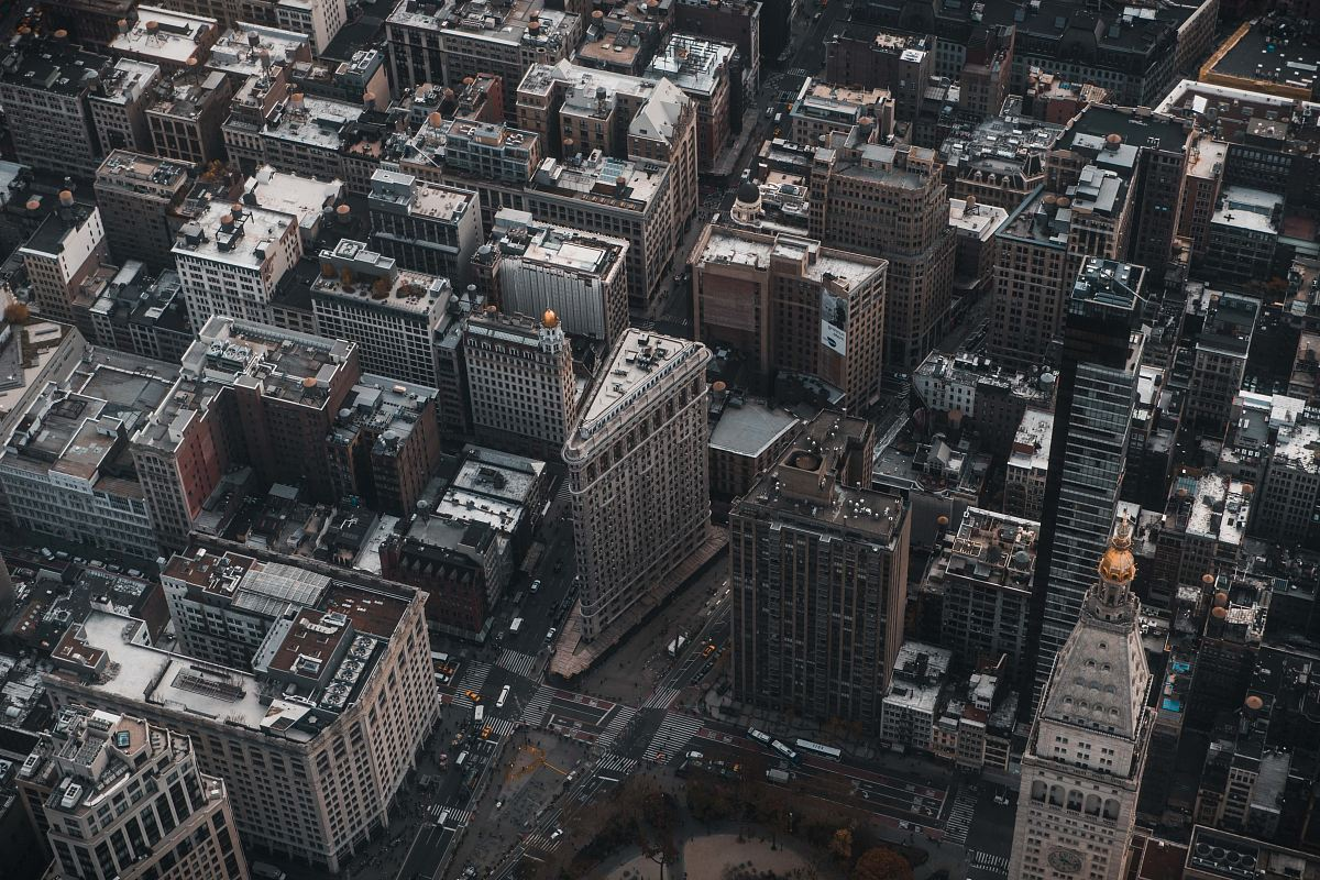 stock photos free  of New York City in aerial photography