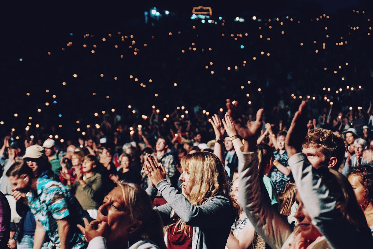 stock photos free  of people racing smartphones on concert