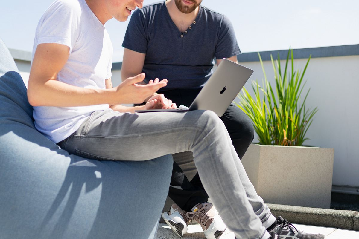 stock photos free  of person using MacBook