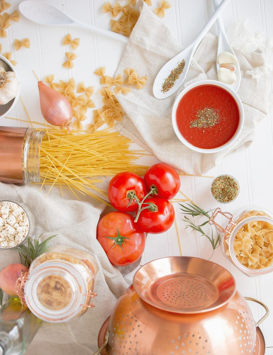stock photos free  of red tomato and pasta