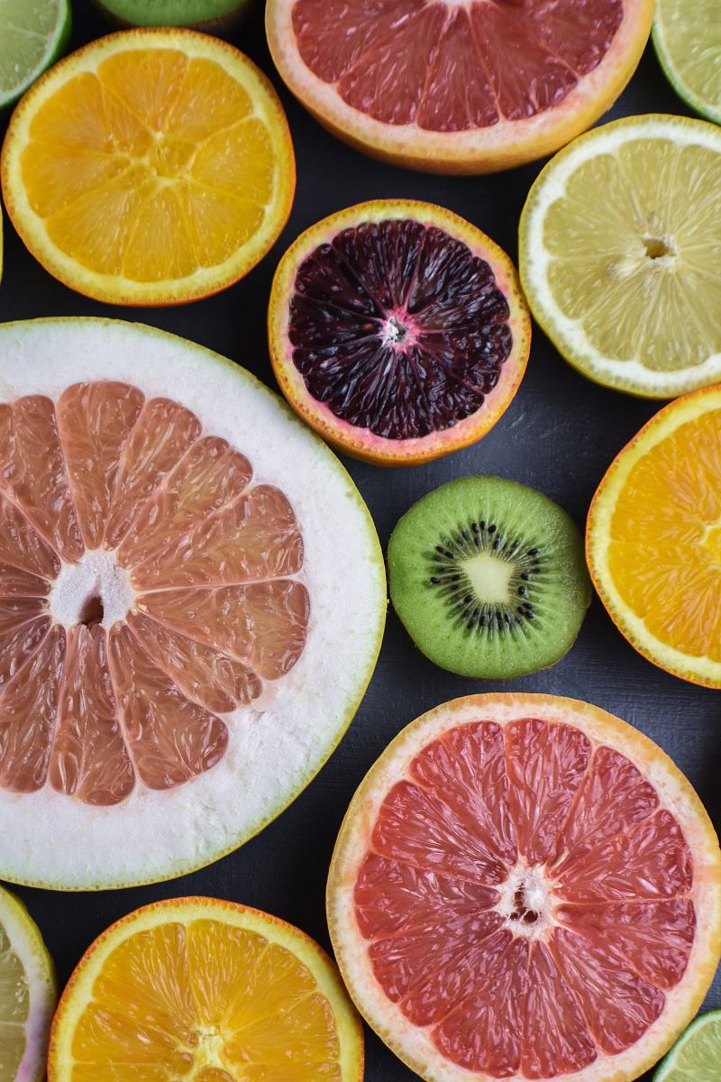 stock photos free  of variety of sliced fruits