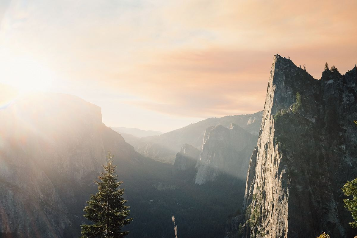 stock photos free  of view of mountain being shine with sunlight