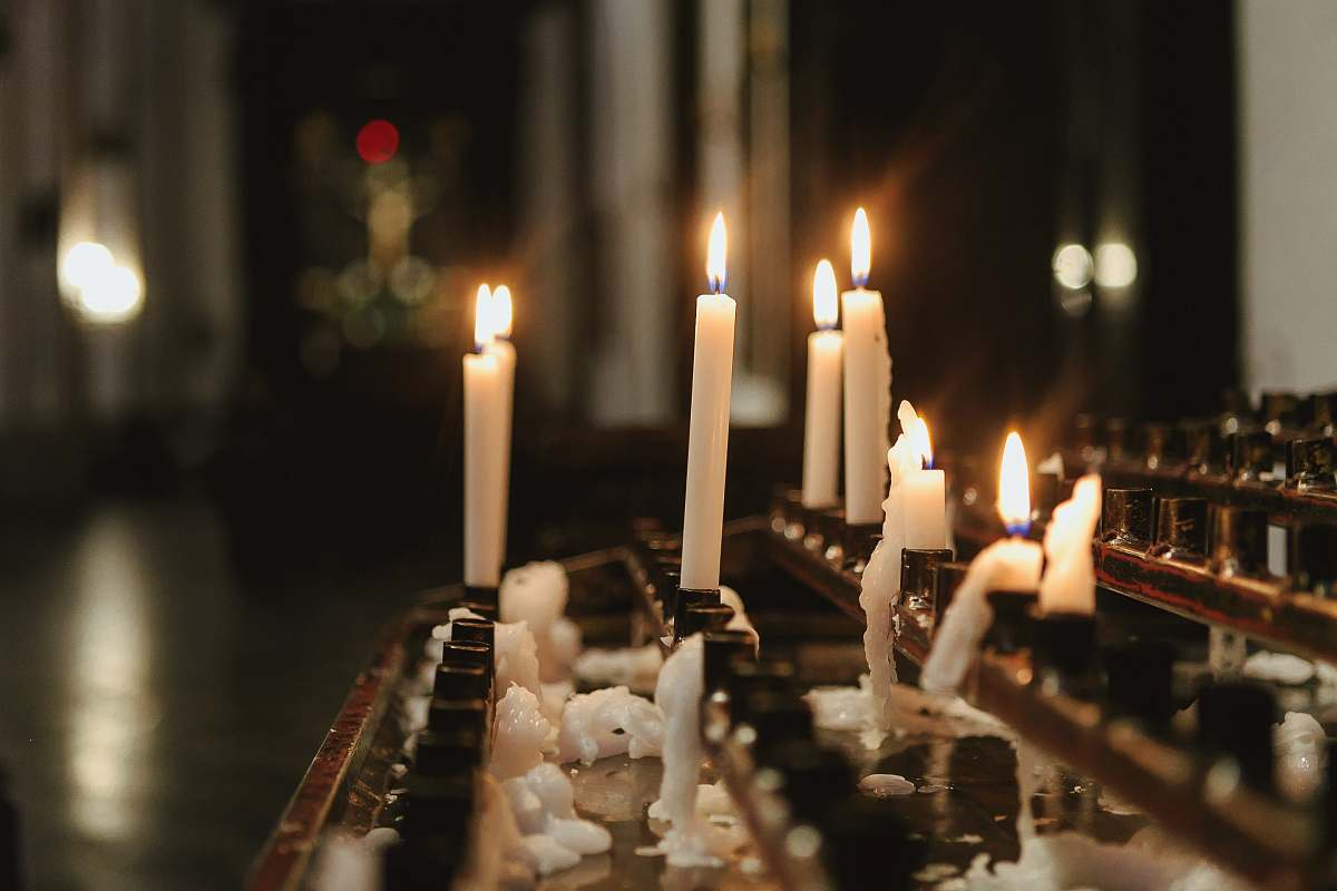 stock photos free  of fire lighted candles