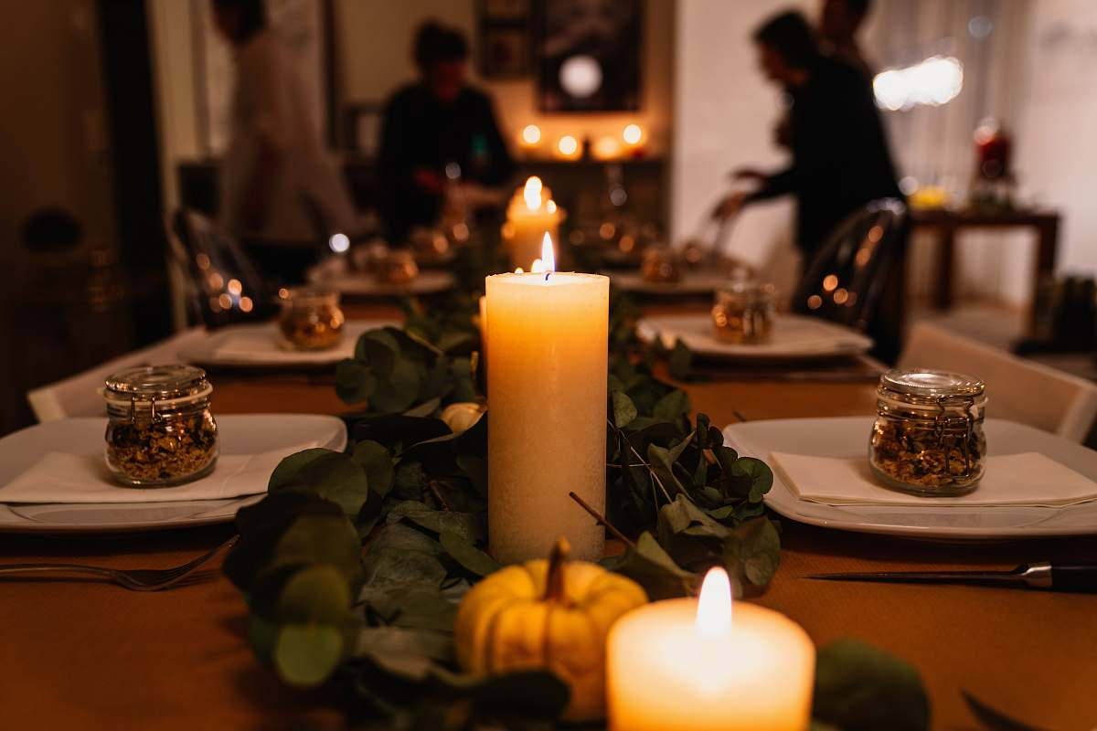 stock photos free  of human lighted candles on table person