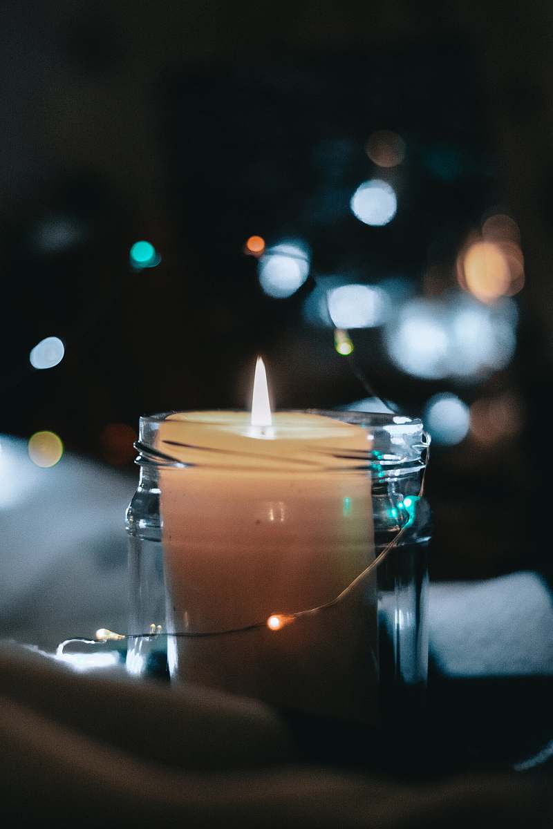 stock photos free  of flame lighter white pillar candle inside glass jar fire
